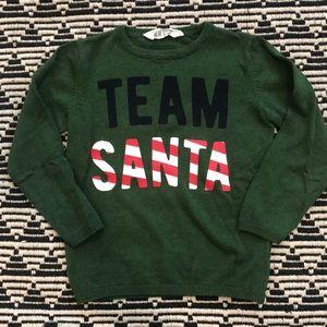 Team Santa Green Sweater H M 4 6